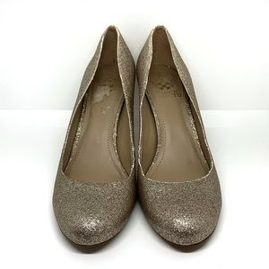 Vince Camuto Gold Sparkle Heels AA